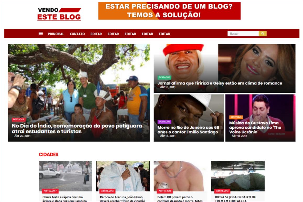 Tema site portal de Notícias para Blogger #Modelo 001