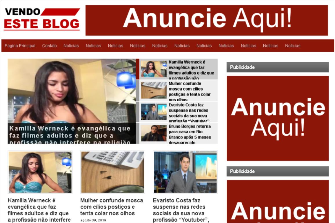 Tema site portal de Notícias para Blogger #Modelo 004